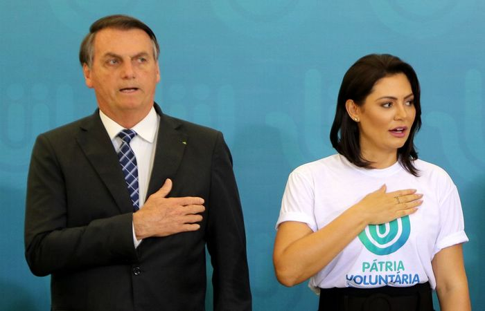 A primeira-dama Michelle Bolsonaro é a presidente do conselho do programa Pátria Voluntária. (Foto: Wilson Dias/Agência Brasil)