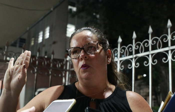 """""""As pessoas estão trabalhando em pânico, com medo que o prédio desabe"""", afirma a presidente do Coren-PE, Marcleide Correia e Sá Cavalcanti. (Foto: Bruna Costa/Esp. DP)"""