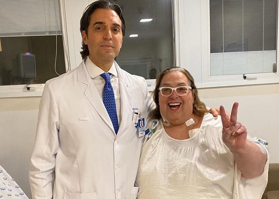 O problema de saúde foi descoberto por Mamma Bruschetta por acaso. A apresentadora fazia exames para a realização de uma bariátrica, motivo pelo qual se afastou do Fofocalizando (SBT), quando descobriu a doença (Foto: Instagram/Reprodução)