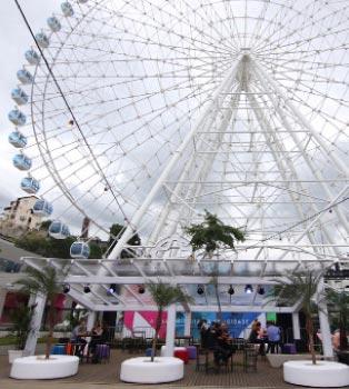 Aberta em dezembro, roda gigante Rio-Star tem 25 metros  (Riotur/divulgação)
