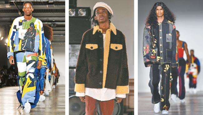 O look streetwear foi um dos destaques do evento de outono/inverno dedicado à moda masculina (Ben Stansall | Niklas Hallen AFP | Ben Stansall)