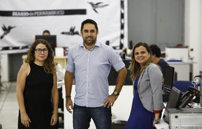 Kauê assume redação, com Paula na executiva e Rochelli vai para edição (Foto: Paulo Paiva/ Dp  )