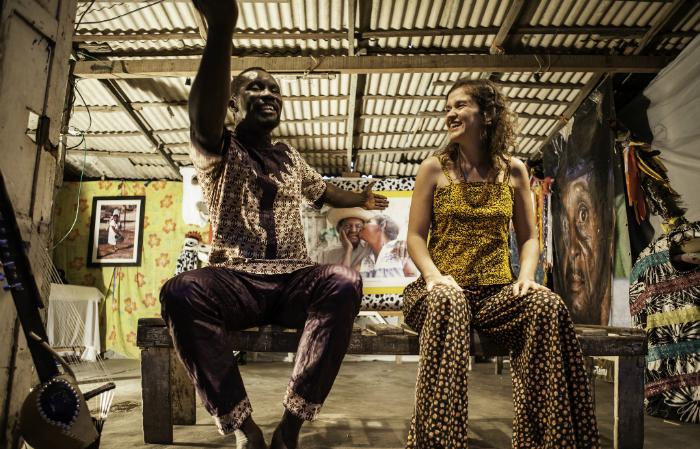 Franc%u0327ois Bamba e Laura Tamiana. (Foto: Geyson Magno/Divulgação)