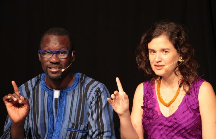 François Bamba e Laura Tamiana.  (Foto: Sesc Osasco/Divulgação)