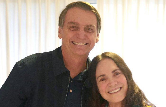 (Bolsonaro terá uma conversa com a atriz nesta segunda-feira. Fotos Públicas)