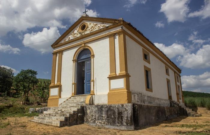 Capela de Jundiá, em Escada.  (Foto: Samuel Calado/Esp.DP)