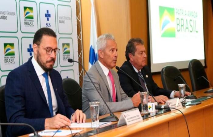 Ministério da saúde realizou coletiva de imprensa nesta quinta-feira  (Foto: Erasmo Salomão/Ministério da Saúde/Divulgação)