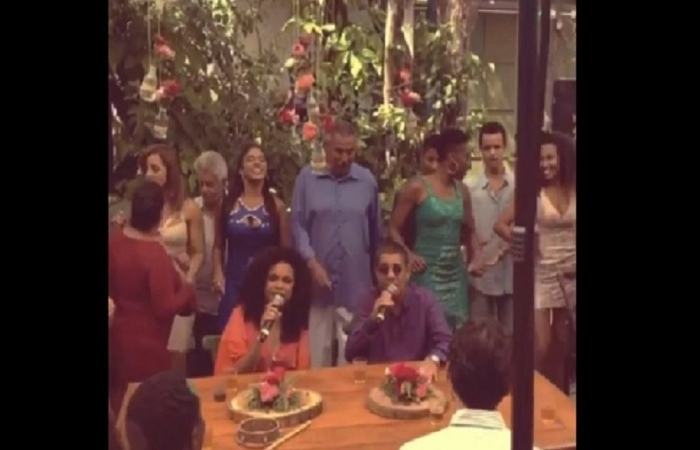 A Globo ainda não confirmou se isso foi apenas um evento de bastidor ou se ambos os músicos aparecerão no último episódio (Foto: Instagram/Reprodução )