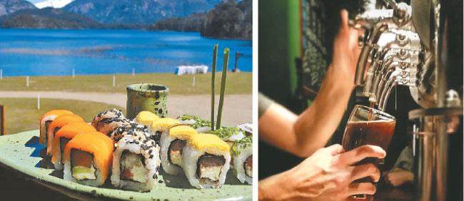 Comida japonesa é uma das atrações do resort El Llao Llao. Tour por cervejarias mostra o melhor da produção artesanal. Tour por cervejarias mostra o melhor da produção artesanal (Wikimedia Commons/Reprodução)
