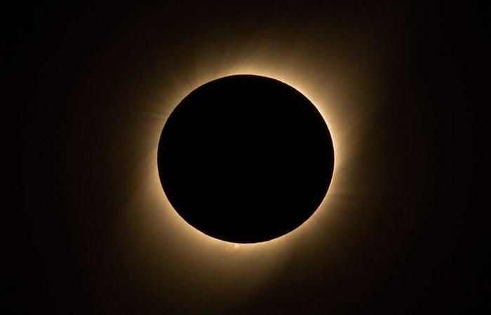 Eclipse solar no Chile. (Foto: Martin Bernetti/AFP)