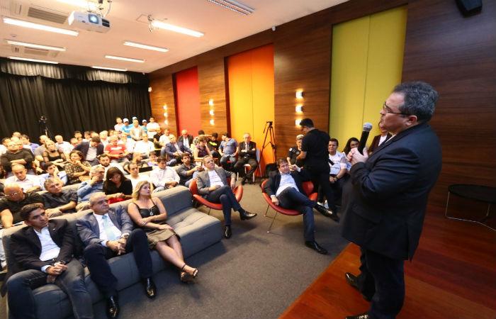 O anúncio foi feito durante inauguração do Hub de Inovação do banco no Porto Digital. (Foto: Bruna Costa / Esp.DP Foto)