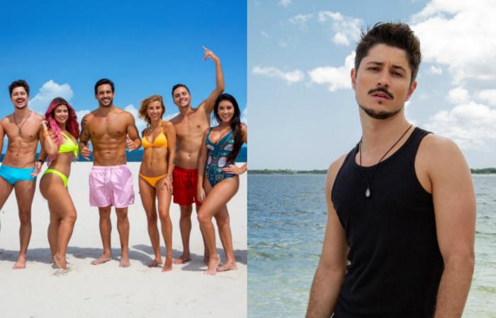 Novos participantes (esquerda) e Rafael Vieira, primeiro participante gay (direita). (Foto: MTV/Divulgação)