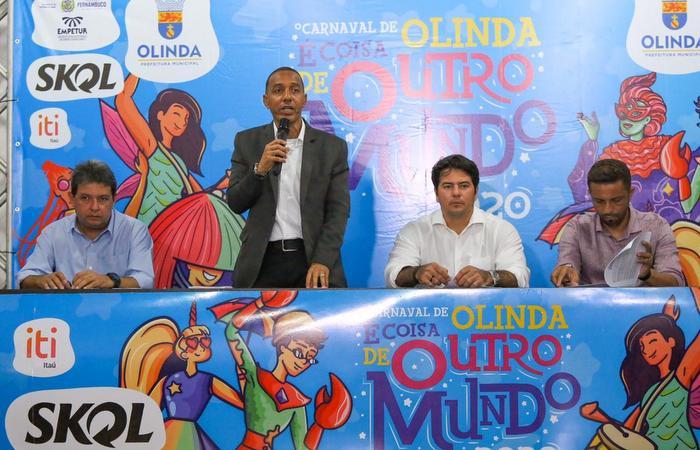 Em coletiva de imprensa, detalhes dos preparativos para o carnaval foram apresentados. (Foto: Leandro de Santana)