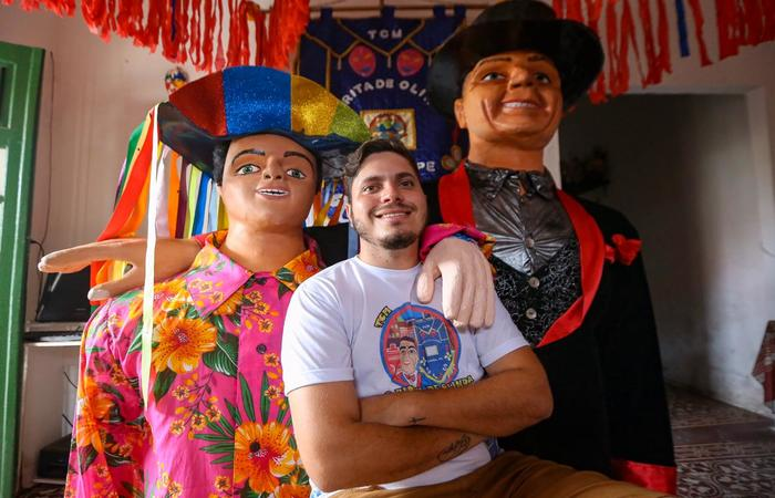 O Birita e o Jorginho sem Preguinha são do bairro do Varadouro, em Olinda.  (Foto: Leandro de Santana/Esp.DP)
