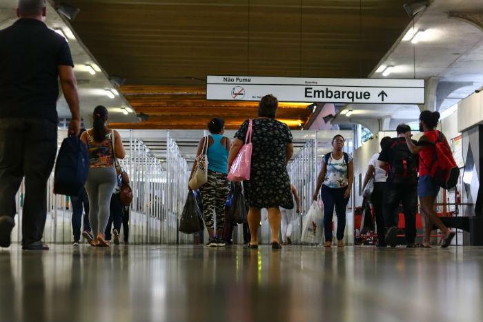 Linha Centro do Metrô ficou sem funcionar das 5h30 às 19h. (Foto: Bruna Costa/Esp. DP)
