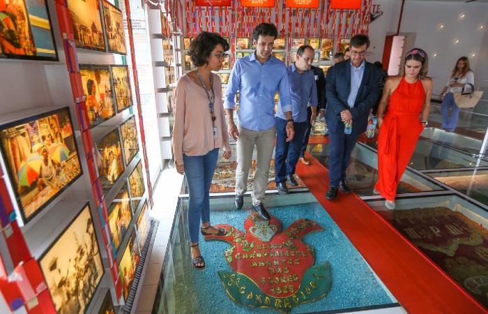 Marcelo Álvaro Antônio visitou locais turísticos do Recife nesta quarta-feira (19), junto a Gilson Machado Neto, da Embratur, e Ana Paula Vilaça, da prefeitura. (Foto: Leandro de Santana/Esp. DP.)