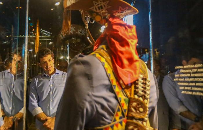 Outro local visitado pelo ministro foi o Cais do Sertão. (Foto: Leandro de Santana/Esp. DP.)