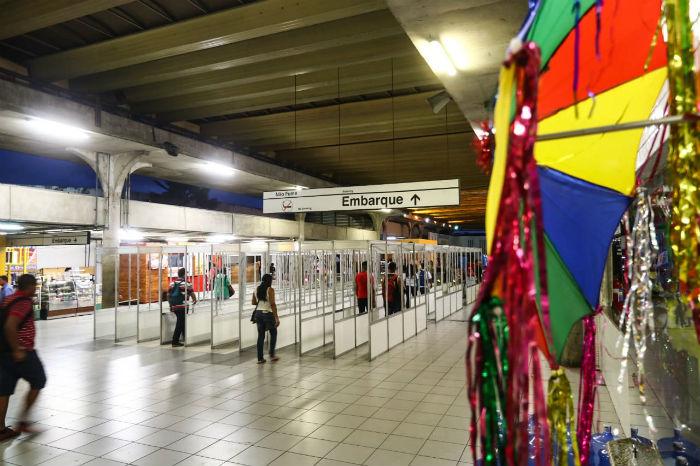 Das 19 estações de metrô, apenas três estarão funcionando normalmente no Sábado de Zé Pereira. (Foto: Bruna Costa/Esp.DP)