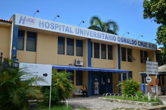 Apenas um paciente com caso em investigação está internado no Huoc. (Foto: Malu Cavalcanti/Esp.DP)