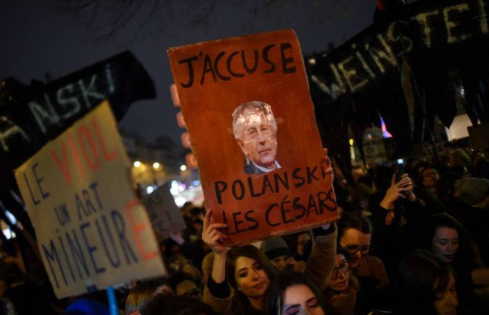 Mesmo com todas as acusações, Polanski recebeu 12 indicações no César. (Foto: Lucas Barioulet/AFP)