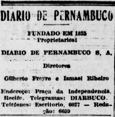 Expediente como Diretor (7 de novembro de 1934) (Foto: Arquivo DP)