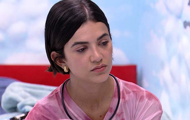A sister revelou estar com a menstruação dois meses atrasada (Foto: Reprodução/TV Globo)