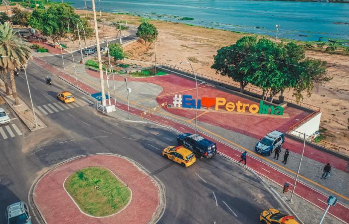 No domingo (22), Prefeitura de Petrolina interditou a orla do Rio São Francisco, como medida preventiva. (Foto: Divulgação/Prefeitura de Petrolina.)