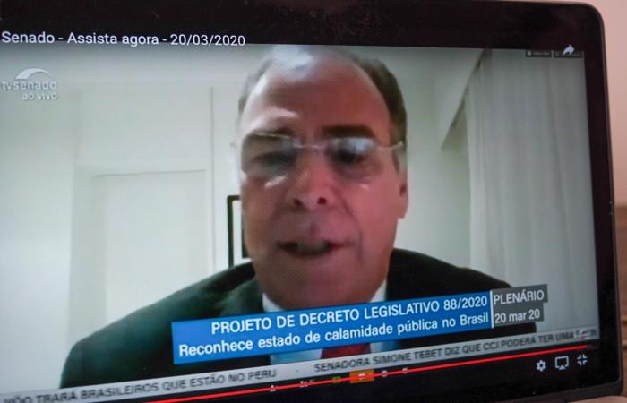 (Senador Fernando Bezerra ponderou sobre cuidado com a economia. Foto: Rafael Nunes/Divulgação)