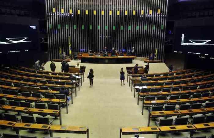 Os deputados votaram o texto na primeira sessão remota da Casa. (foto: Minervino Júnior/CB/D.A Press)