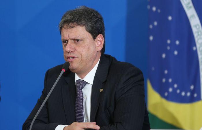 Tarcísio Freitas destacou infraestrutura brasileira em coletiva. (Foto: Marcello Casal JrAgência Brasil )