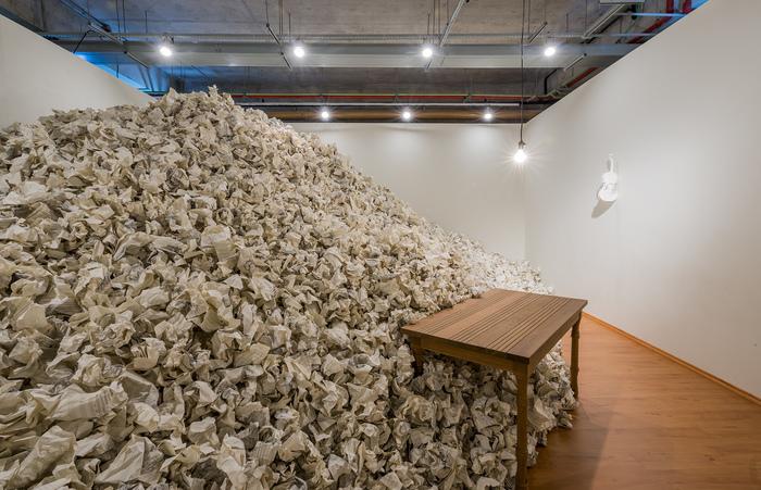 Partitura (2014), uma das obras da mostra. (Foto: Ding Musa/Divulgação)