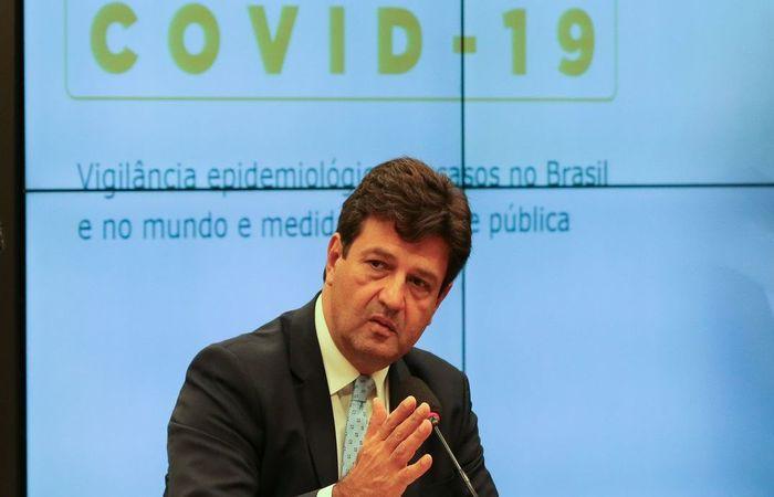 Durante a coletiva, Mandetta também comentou sobre anúncio falso do primeiro caso de coronavírus em janeiro (Foto: Fabio Rodrigues Pozzebom/Agência Brasil)