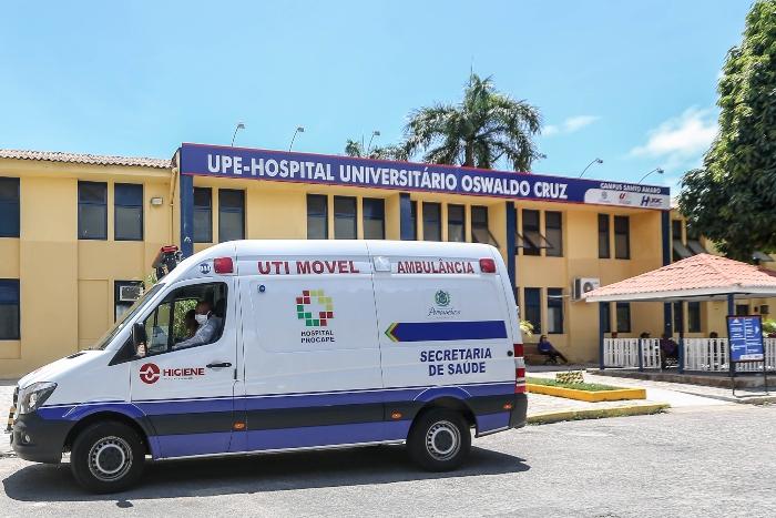 Uma das mortes registradas foi no Hospital Universitário Oswaldo Cruz (Huoc). (Foto: Leandro de Santana/ ESP Foto DP)