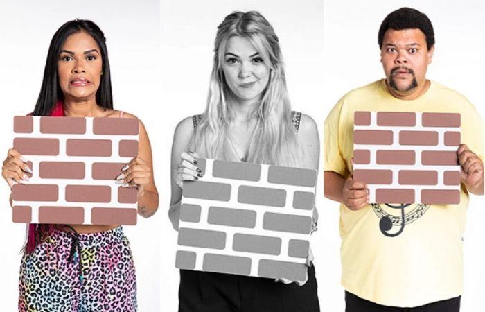 Flayslane, Marcela e Babu, os emparedados da semana. (Foto: TV Globo/Divulgação)