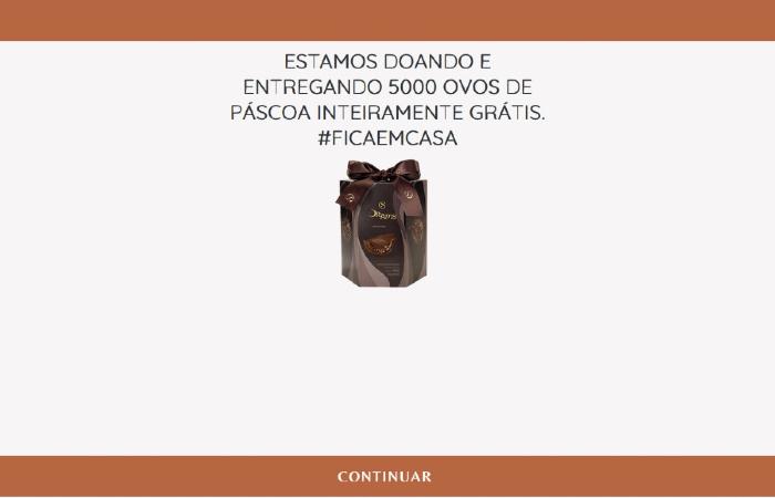Criminosos utilizam o nome de empresas famosas, como a Cacau Show, para iludir a população. (Foto: Divulgação/PF.)