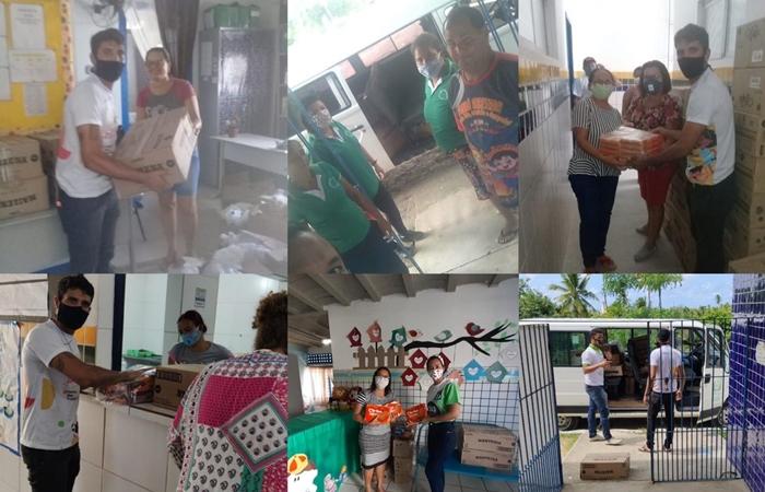 Os produtos serão distribuídos para famílias da região (Foto: Divulgação)