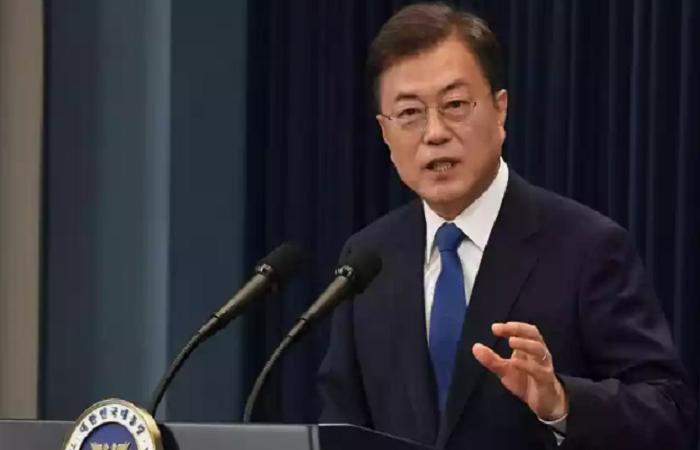 Moon Jae-in pediu para que os coreanos não se descuidem (Foto: AFP / POOL / KIM Min-Hee.)