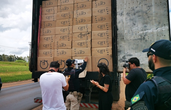 Gravações do documentário Cigarro do Crime (Foto: Divulgação)