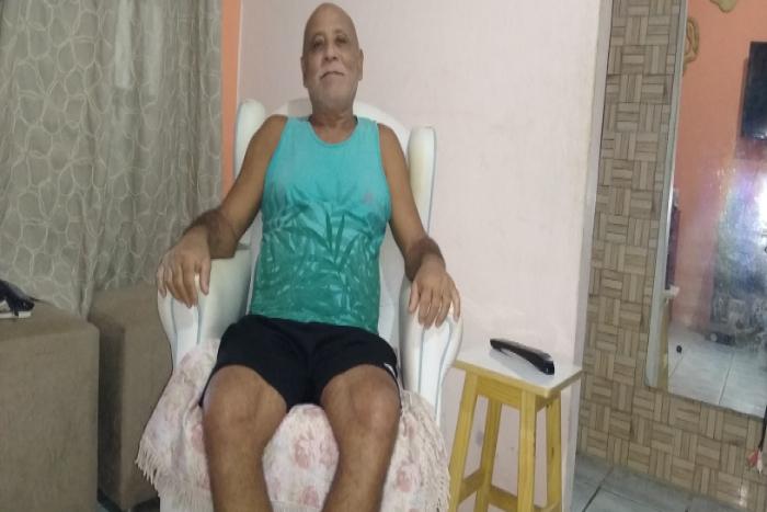 Recuperado da Covid-19, Alberico recebeu alta do Hospital das Clínicas há oito dias.  (Foto: Arquivo Pessoal)