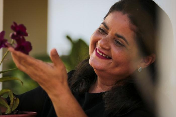 Sandra deixou o Hospital da Mulher do Recife após duas semanas internada. (Foto: Tarciso Augusto/Esp.DP)