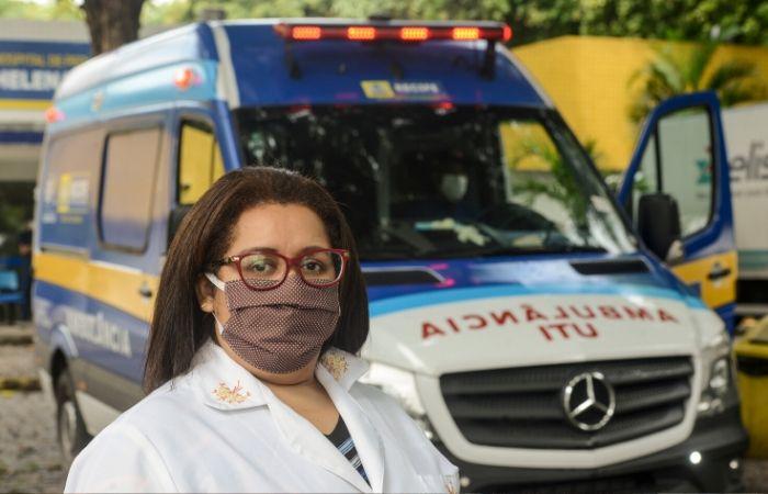 Sandra Helena Soares de Castro, 40 anos, chefe da Enfermagem do Hospital de Pediatria Helena Moura (Foto: Divulgação)