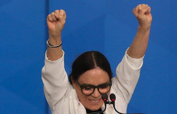 Atriz Regina Duarte foi anunciada pelo presidente Bolsonaro para o comando da pasta (Foto: Antônio Cruz/Agência Brasil )