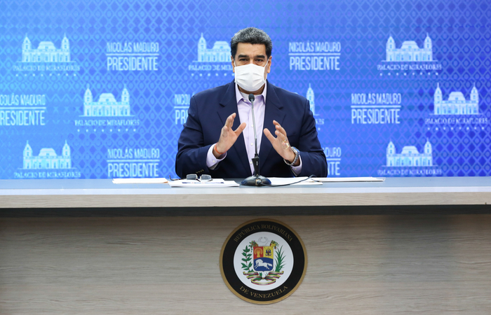 Desde janeiro de 2019, os Estados Unidos lideram a pressão internacional para incentivar a saída de Maduro (Foto: Marcelo Garcia / Venezuelan Presidency / AFP)