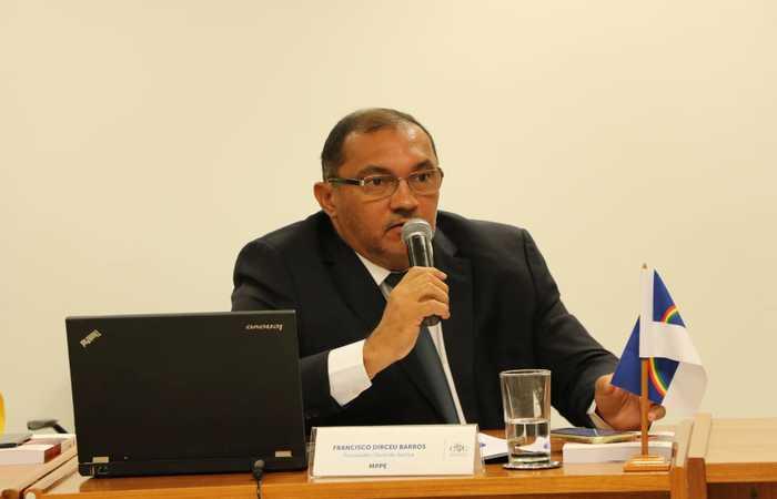 Francisco Dirceu Barros assinou recomendação que não permite que municípios flexibilizem isolamento por conta própria (Foto: MPPE/Reprodução)