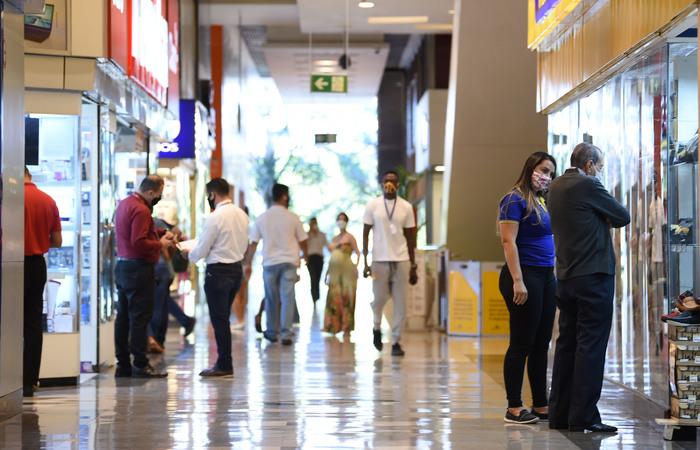 O incidente ocorreu em um shopping de Brasília (DF) (Foto: Evaristo Sá/AFP)