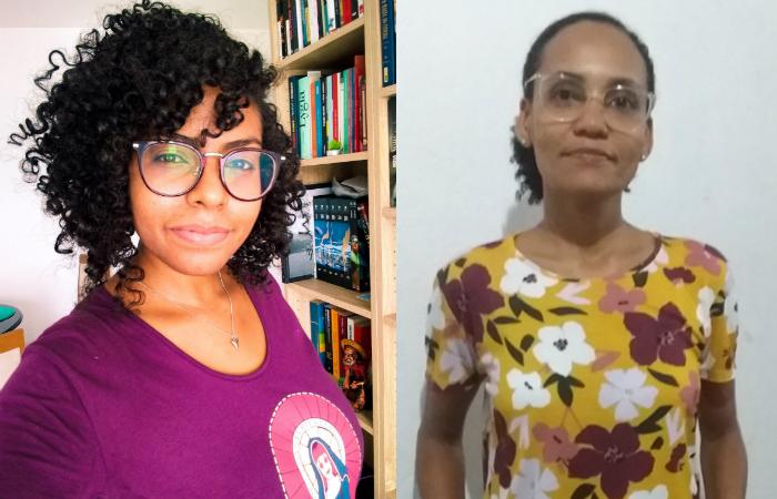 Ilka Souza (dir.) e Adriana Silva pesquisam a representação da mulher negra na literatura (Fotos: Acervo Pessoal)