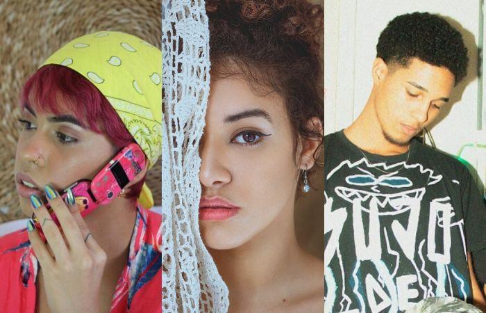 Ororo, Iara e Maicão são exemplos de jovens que passaram a apostar no R&B (Fotos: HoodCave, Jezz Maia e Selo Musical R$/Divulgação)