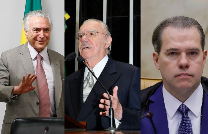 (Fotos: Marcos Correa/PR, Waldemir Barreto/Agência Senado e Divulgação/SCO/STF.)