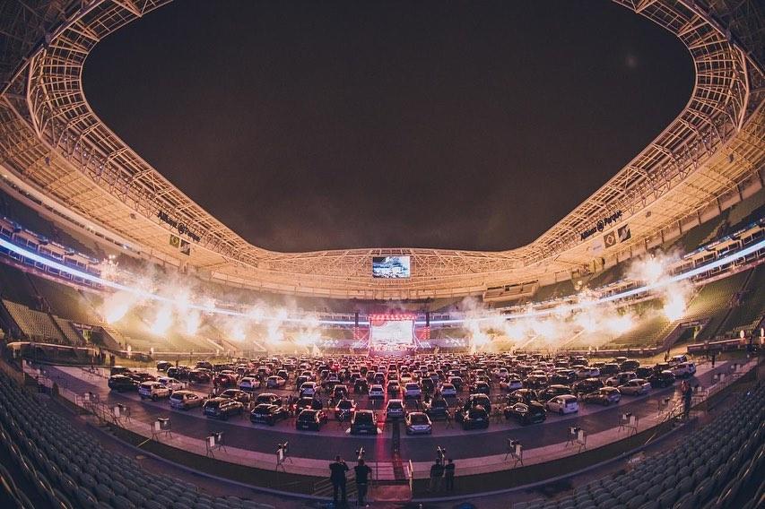 Interior do Allianz Parque durante show (Foto: @allianzparque/Reprodução)