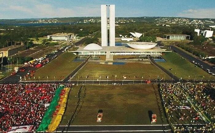 Cena de Democracia em Vertigem (Foto: Netflix/Divulgação)